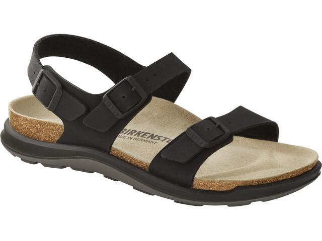 Birkenstock Sonora Crosstown Sandals Birko-Flor Birkibuc Narrow Women, black
